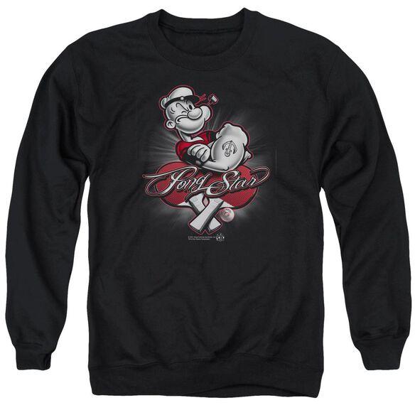 Popeye Pong Star Adult Crewneck Sweatshirt