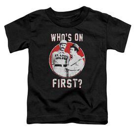 Abbott & Costello First Short Sleeve Toddler Tee Black T-Shirt