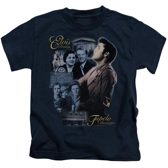 Elvis Tupelo Short Sleeve Juvenile Navy T-Shirt