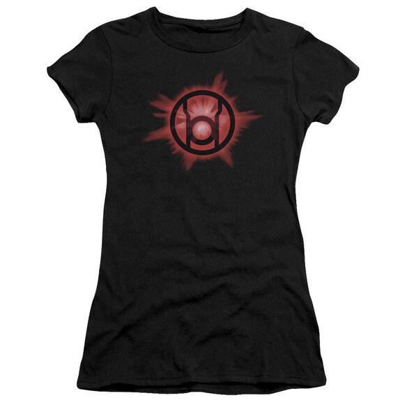 Green Lantern Red Glow Short Sleeve Junior Sheer T-Shirt