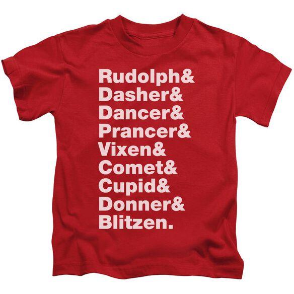 Reindeer Short Sleeve Juvenile T-Shirt