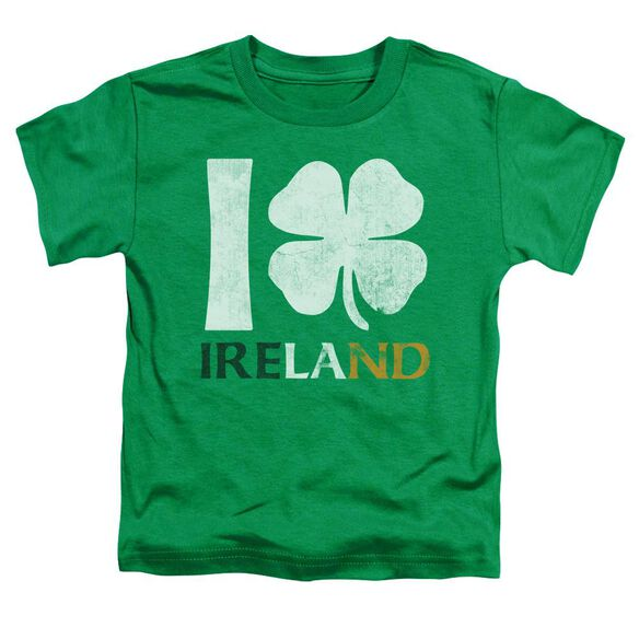 I Love Ireland Short Sleeve Toddler Tee Kelly Green T-Shirt