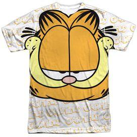 Garfield Big Face Short Sleeve Adult Poly Crew T-Shirt