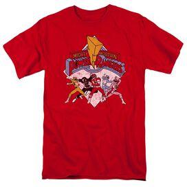 Power Rangers Retro Rangers Short Sleeve Adult T-Shirt