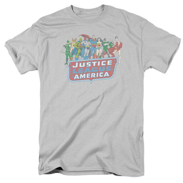 Dc Jla Lineup Short Sleeve Adult T-Shirt