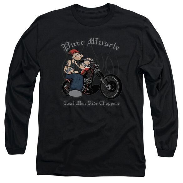 Popeye Pure Muscle Long Sleeve Adult T-Shirt