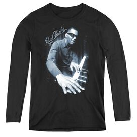 RAY CHARLES BLUES PIANO - WOMENS LONG SLEEVE TEE