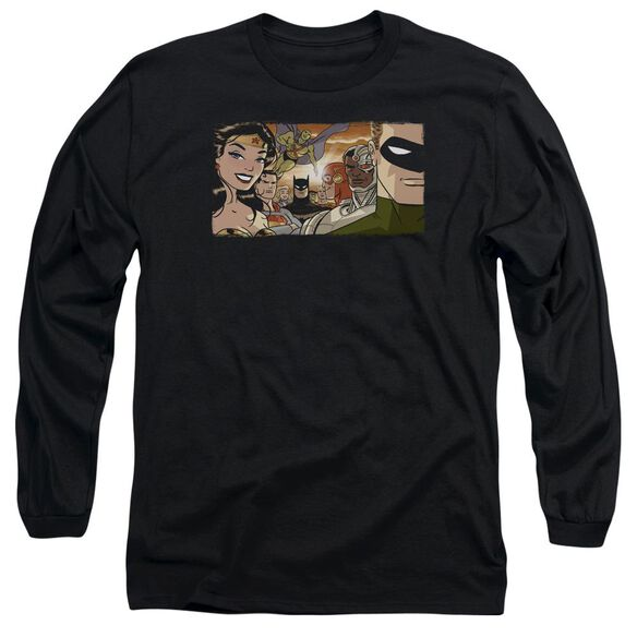 Jla Cinematic League Long Sleeve Adult T-Shirt