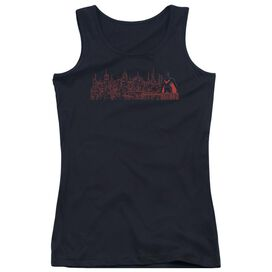 Batman Beyond Neo Gotham Skyline Juniors Tank Top