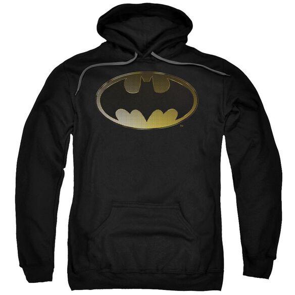 Batman Halftone Bat Adult Pull Over Hoodie