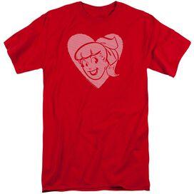 Archie Comics Betty Hearts Short Sleeve Adult Tall T-Shirt