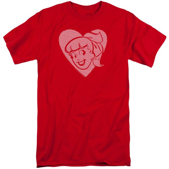 Archie Comics Betty Hearts Short Sleeve Adult Tall T-Shirt