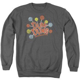 Dum Dums Original Pops - Adult Crewneck Sweatshirt - Charcoal