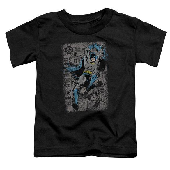 Batman Detective #487 Distress Short Sleeve Toddler Tee Black Lg T-Shirt