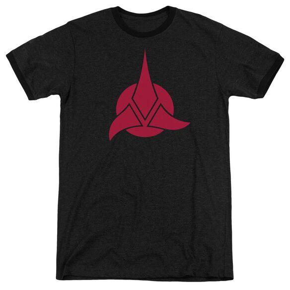 Star Trek Klingon Logo Adult Heather Ringer
