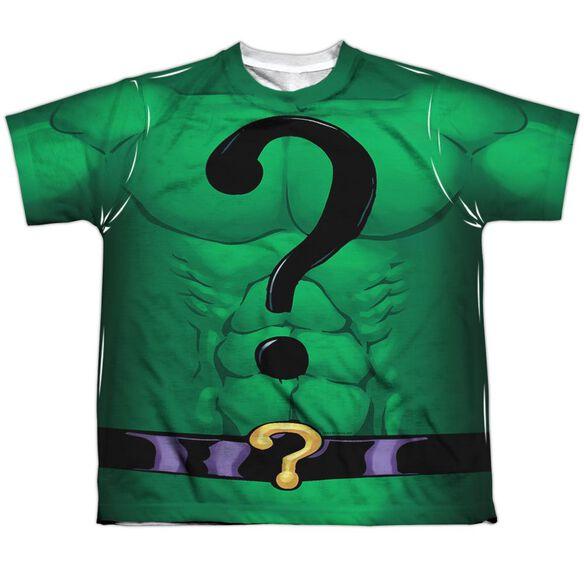 Batman Riddler Uniform Short Sleeve Youth Poly Crew T-Shirt