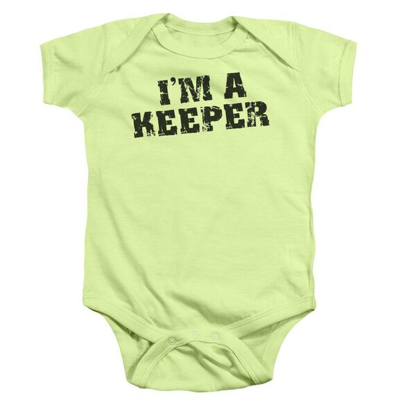 I'm A Keeper Infant Snapsuit Soft Green Md