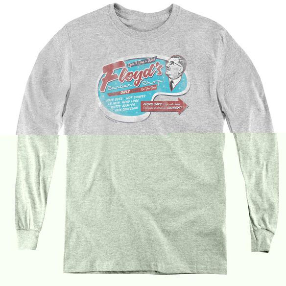 Mayberry Floyds Barber Shop - Youth Long Sleeve Tee - Athletic Heather