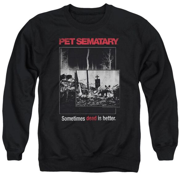 Pet Semetary Cat Poster Adult Crewneck Sweatshirt