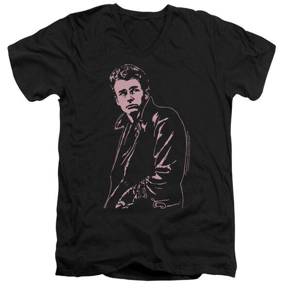 Dean Coat Short Sleeve Adult V Neck T-Shirt