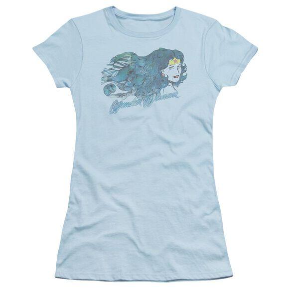 Jla Watercolor Hair Short Sleeve Junior Sheer Light T-Shirt