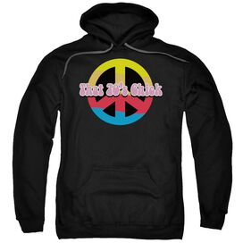 That 70 S Chick Adult Pull Over Hoodie Black
