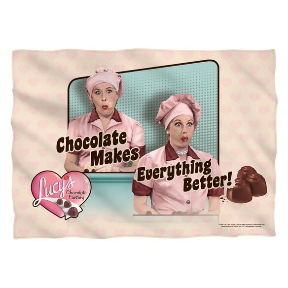 I Love Lucy Friends And Chocolate Pillow Case