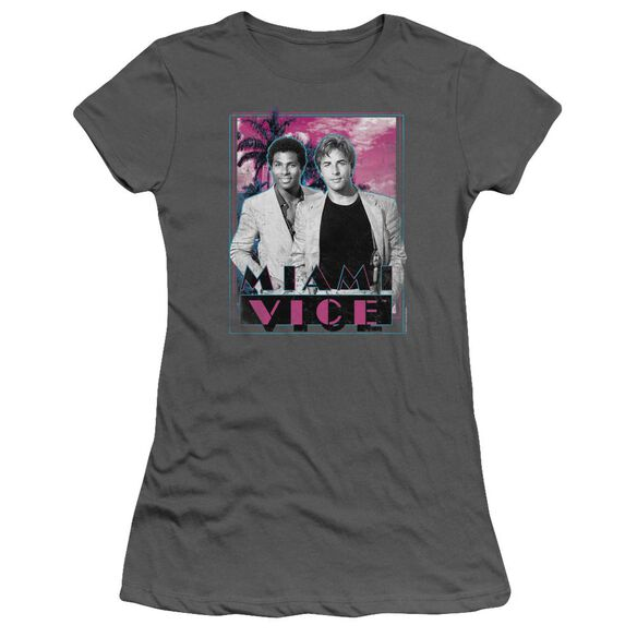 Miami Vice Gotchya Short Sleeve Junior Sheer T-Shirt