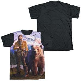 Grizzly Adams Man And Bear Short Sleeve Adult Front Black Back T-Shirt