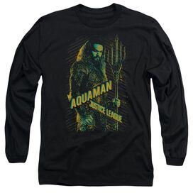 Justice League Movie Aquaman Long Sleeve Adult T-Shirt