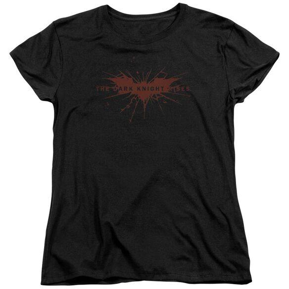 Dark Knight Rises Distressed Bat Short Sleeve Women's Tee T-Shirt