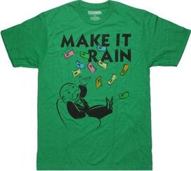 Monopoly Make it Rain Heather T-Shirt Sheer
