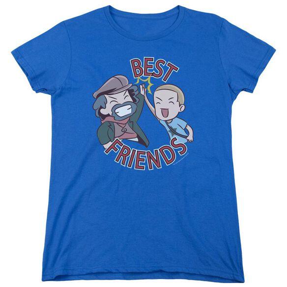 Valiantbest Friends Emoji Short Sleeve Womens Tee Royal T-Shirt