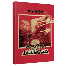 Zz Top Deguello Cover Canvas Wall Art With Back Board