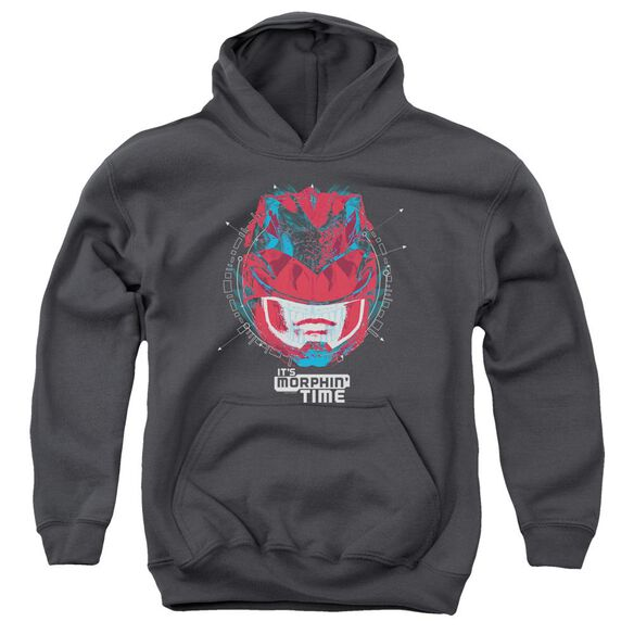 Power Rangers Its Morphin Time Youth Pull Over Hoodie