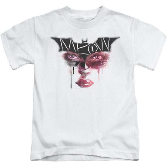 Dark Knight Rises Meow Short Sleeve Juvenile White T-Shirt