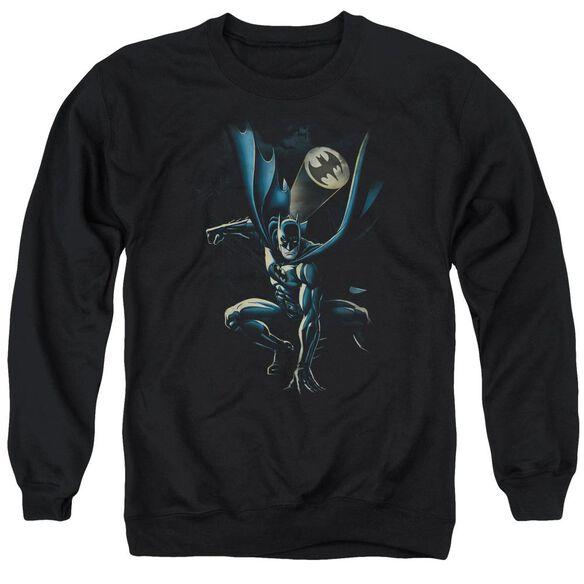Batman Calling All Bats - Adult Crewneck Sweatshirt - Black