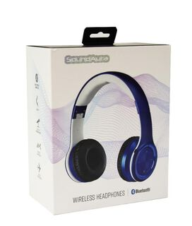 SoundAura SAHB239 Wireless Bluetooth Headphones [Blue]