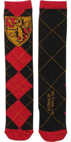 Harry Potter Gryffindor Argyle Crew Socks