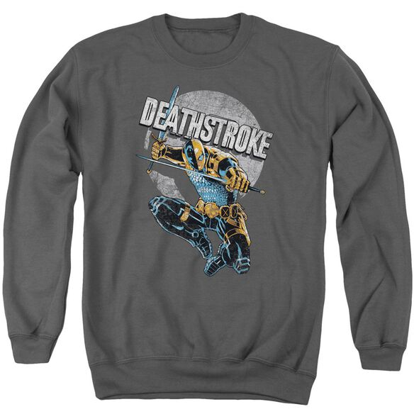 Jla Deathstroke Retro Adult Crewneck Sweatshirt