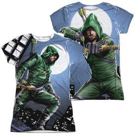 Arrow Night Watch (Front Back Print) Short Sleeve Junior Poly Crew T-Shirt