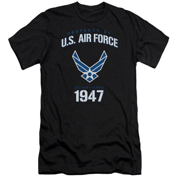 Air Force Property Of Premuim Canvas Adult Slim Fit