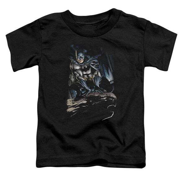 BATMAN PERCHED - S/S TODDLER TEE - BLACK - T-Shirt
