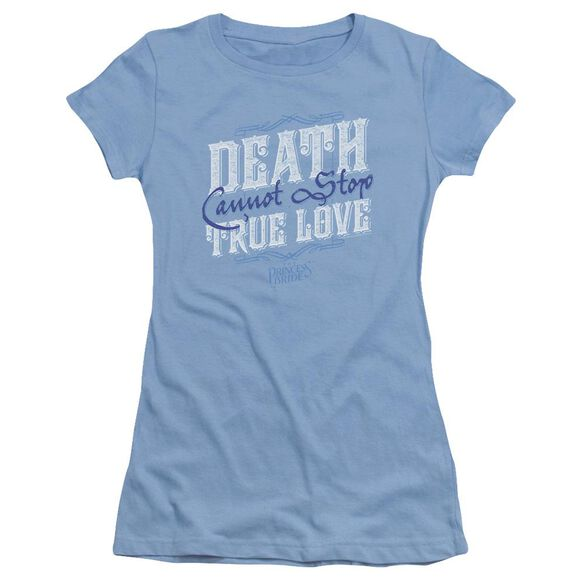 Princess Bride Love Over Death Short Sleeve Junior Sheer Carolina T-Shirt