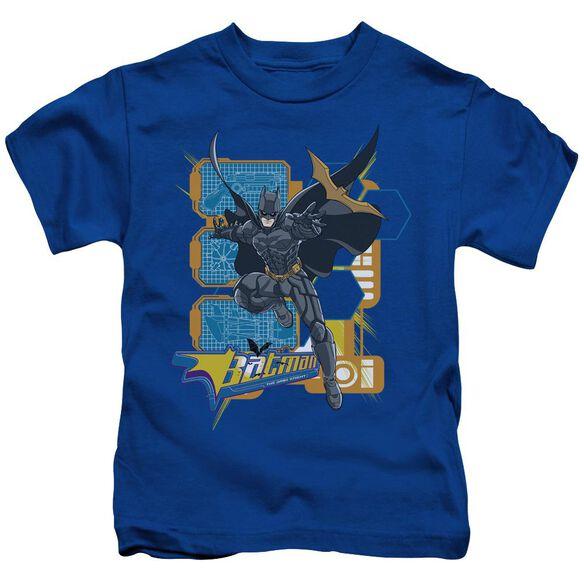 Dark Knight Batarang Tech Short Sleeve Juvenile Royal T-Shirt