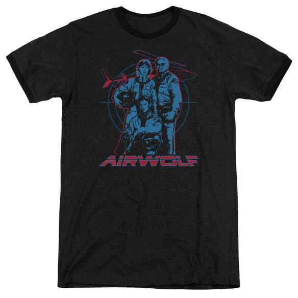 Airwolf Graphic Adult Heather Ringer