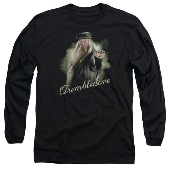 Harry Potter Dumbledore Wand Long Sleeve Adult T-Shirt