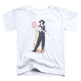 Stevie Ray Vaughan Standing Tall Short Sleeve Toddler Tee White T-Shirt