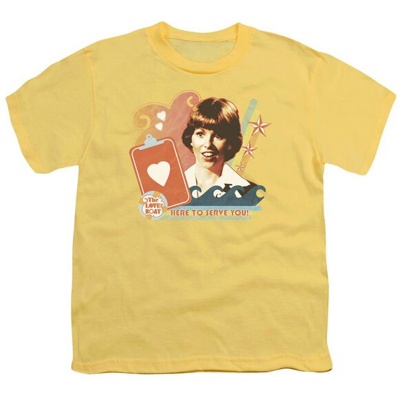Love Boat Here To Serve Short Sleeve Youth T-Shirt