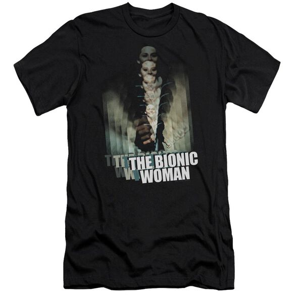 Bionic Woman Motion Blur Premuim Canvas Adult Slim Fit